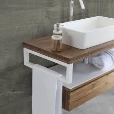 Mobile bagno sospeso moderno teak&white cipì in offerta
