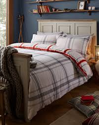 lincoln brushed cotton red duvet cover set