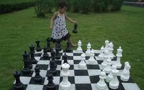garden chess set. Giant Plastic 12\ Garden Chess Set