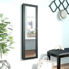 over the door jewelry armoire with mirror door mirror door over the door jewelry with mirror