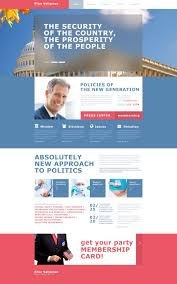 Political Candidate Muse Templates Templatemonster