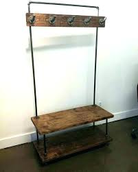 Coat Rack With Seat Inspiration Hallway Coat Bench Hall Tree Coat Rack Storage Bench Hall Bench Coat