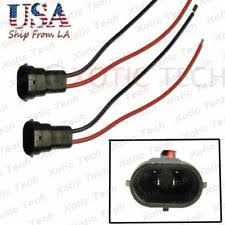 h11 connector lighting & lamps ebay H11 Wiring Harness a pair h11 880 male adapter wiring harness sockets wire headlights or fog lights autozone h11 wiring harness