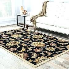 oval rug handmade fl black tan area rugs 8x10 large extra target interior design chea