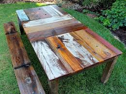 rustic dining table diy. reclaimed wood rustic dining table diy