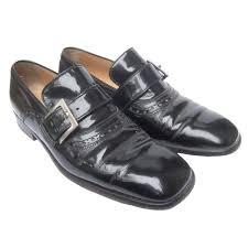 dolce gabbana men s black patent leather shoes us size 8