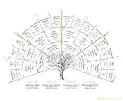 Descendant Fan Chart Watercolor Ancestor Tree 5 Generations Family Tree Art