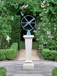 the inverted sundial pedestal with zenith armillary sphere