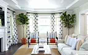 living room with bay window living room bay window with dots curtains furniture layout living room bay window