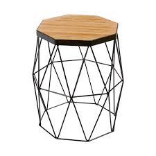 contemporary bedside furniture. modern contemporary oak side tablestool black steel metal base bedside furniture