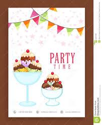 Template Flyer Or Banner Design For Ice Cream Stock Illustration