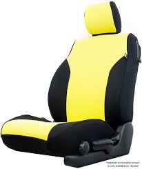 neosupreme seat cover in black and yellow