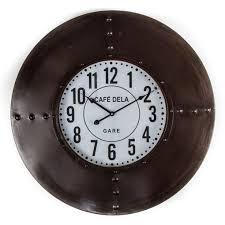 gare industrial retro wall clock