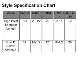 Next Level Kids Size Chart