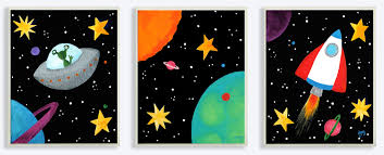 Outer Space Bedroom Space Themed Bedroom Space Final Frontier Themed Nursery Project
