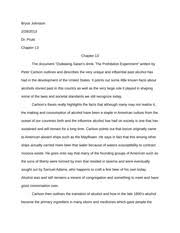 prohibition essay bryce johnston dr pruitt chapter chapter  prohibition essay bryce johnston dr pruitt chapter 13 chapter 13 the document outlawing satans drink the prohibition experiment written by peter