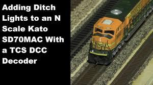 Ho Ditch Lights Adding Ditch Lights To A Kato Sd70mac Using The Tcs K1d4