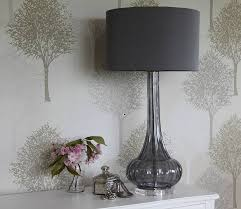 Gray Table Lamps Extraordinary Terrific Gray Table Lamp On Darro Glass By Cowshed Interiors Com