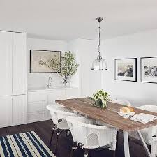 dining room white cabinets. Salvaged Wood Dining Table With White Wicker Chairs Room Cabinets N