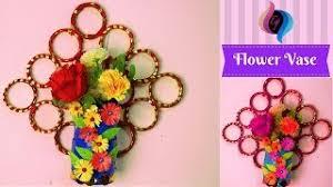 News Paper Flower Vase Newspaper Flower Vase Wall Decor Diy Newspaper Crafts