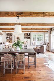 amusing colonial home decor with exposed wood ceiling and white