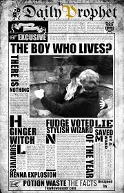 Harry Potter Newspaper Template Daily Prophet Newspaper Template Harry Potter Google Slides