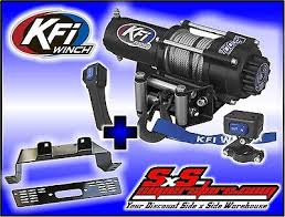 kfi 3000 lb winch combo for all polaris ranger rzr 570 and 800 3000 lb kfi winch combo polaris midsize ranger 2010 2016 400 ev 500 570 800