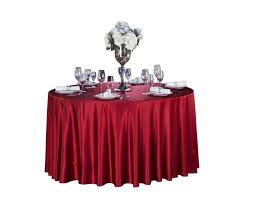 polyester red table cloth round manufacturers and suppliers china whole from factory sidefu textile