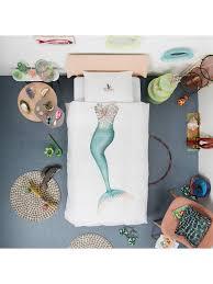 mermaid duvet cover. Modren Cover BuySnurk Mermaid Duvet Cover And Pillowcase Set Single Online At  Johnlewiscom  For A