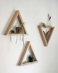 diy wooden triangle shelves the