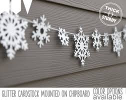Snowflake garland , snowflake banner, glitter party decorations