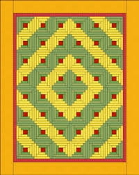 Inspiration - Log Cabin layouts - Quilting Tutorial from ... & Inspiration - Log Cabin layouts Adamdwight.com