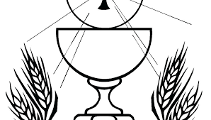 Eucharist Coloring Pages Communion In Church Coloring Page Eucharist