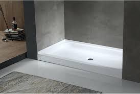 32x60 shower base tier x in center drain single threshold shower base in white