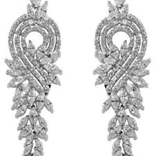 delphina vintage cer dangle chandelier earrings cubic zirc