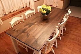 rustic dining table diy. DIY Farmhouse Table Rustic Dining Diy B