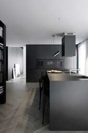 modern black kitchens. Simple Modern Minimalistic And Modern Kitchen In Black Throughout Modern Black Kitchens