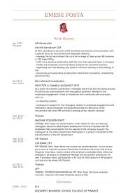 sample hr generalist resume