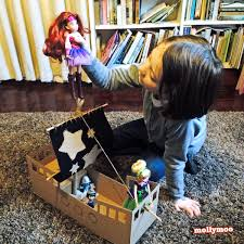 diy pirate ship cardboard craft by michelle mcinerney of mollymoo