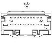 chrysler car radio stereo audio wiring diagram autoradio connector chrysler p05064300ab