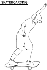 tony hawk coloring pages