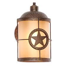 lone star 1 light desert sands outdoor wall mount lantern