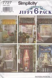 Perfect home decor ideas with colorful variation Warm Image Etsy Simpicity 7727 Vintage Pattern Home Decor Valance Pattern In Etsy