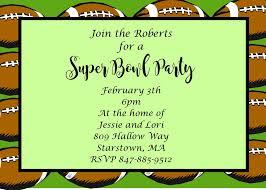 Super Bowl Party Invitations 2019 Football