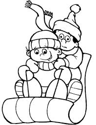 Small Picture Winter sledding coloring pages download and print for free