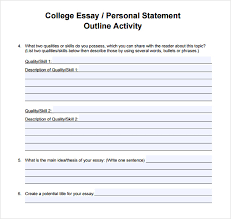 Personal Statement For College Personal Statement College Barca Fontanacountryinn Com