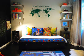 boys bedroom with maps and: world map wall decal kids eclectic with bamboo floor boy room boys boys room chalk board