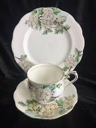 ROYAL ALBERT TEA Cup Saucer & Plate Set Blossom Time Series Hawthorn 5P -  £29.35 | PicClick UK