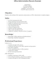 Resume Objectives For Administrative Assistant New Medical Office Administration Resume Objective For Study 48