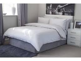 belledorm hotel suite satin stripe egyptian cotton platinum duvet cover sets